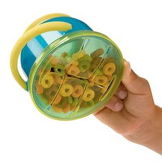 This would save my vacuum from being destroyed by Cheerios!   Spill Proof Snack Buddy Snack Cup!