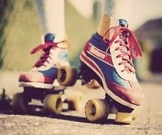 I can't believe how many variations of blue/yellow (and in this case red) roller skates there are.