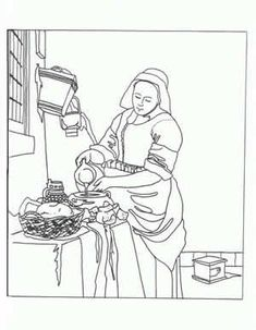 Day 12: Netherlands and Belgium... Great way to introduce Vermeer: NUMEROUS FAMOUS WORKS OF ART turned into coloring pages. Click the link HERE: http://www.livingston.org/page/384
