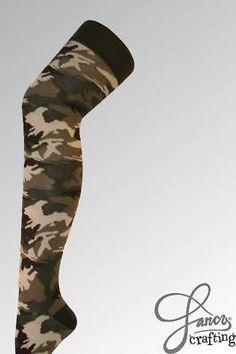Army Camo Camouflage Over The Knee High Overknee Socks | eBay