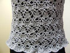 Blusa Gris Crochet parte 2 de 2 - YouTube