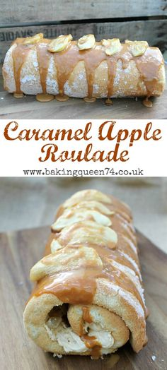 Autumnal Caramel Apple Roulade Caramel Apple Roulade recipe – perfectly autumnal and full of delicious caramel buttercream and apple Homemade Desserts, Fun Desserts, Delicious Desserts, Dessert Recipes, Fruit Dessert, Apple Desserts, Baking Desserts, Apple Recipes, Fall Recipes