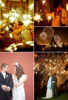 """10 beautiful NYE wedding ideas including fireworks, """"costume change"""", and """"midnight snacks"""""""
