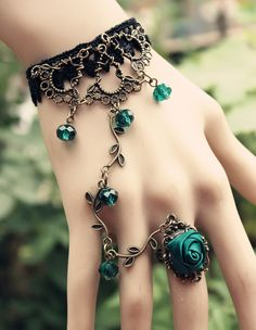 Bohemian Retro Rose Vines Women's Rings Bracelets