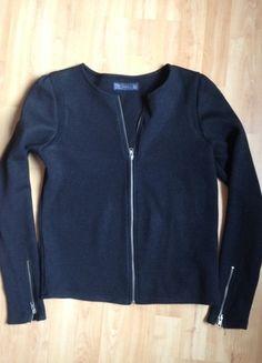 Kaufe meinen Artikel bei #Kleiderkreisel http://www.kleiderkreisel.de/damenmode/blazer-blazer/111575402-schwarzer-strick-blazer-von-zara