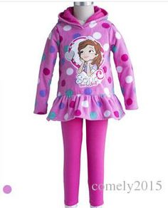 Sophia Clothes Set Tracksuit New Autumn Fall 2015 Princess Sofia the First Baby Girl Cartoon Costume Polar Fleece Hoodie Legging Free Shipp Online with $21.95on Comely2015's Store | DHgate.com