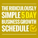 The Ridiculously Simple 5 Day Business Growth Schedule You Can Follow http://unstoppableprofits.com/the-ridiculously-simple-5-day-business-growth-schedule-you-can-follow via @Aurelius Tjin