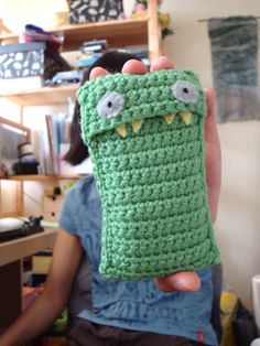 Stripey Jack the iphone-eating monster pattern - FREE
