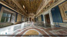 Per ammirare le sale e gli affreschi e fare questa visita virtuale basta andare sul sito del Colle. Un modo per ammirare le opere con dettagli invisibili