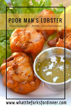 Poor Mans Lobster- Cod fish dipped in a fry krisptomato based batter and deep fried in peanut oil that will make you think it's lobster. Fish Dishes, Seafood Dishes, Fish And Seafood, Lobster Recipes, Seafood Recipes, Cooking Recipes, Cod Recipes, Dinner Recipes, Poor Mans Lobster