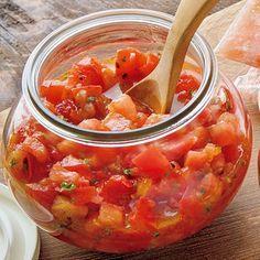 レタスクラブの簡単料理レシピ ピリッとした辛みがくせになる「トマトサルサ」のレシピです。 Cooking Tomatoes, Fun Cooking, Healthy Cooking, Cooking Sauces, Food Tasting, Vegetable Dishes, Vegetable Recipes, Cafe Food, Vegan Dishes
