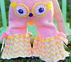Owl Crochet Pants