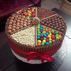 Receita de Bolo de chocolate com guloseimas. Enviada por PRISCILA DE ANDRADE FERNANDES NERES e demora apenas 120 minutos.