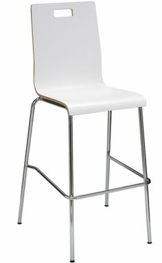 JIVE Series- Bentwood Stool with HPL Surface - White, BR9222CH-WH | RestaurantFurniture4Less.com