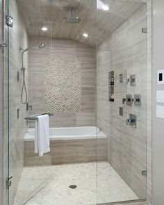 How cool tub and shower in the same space