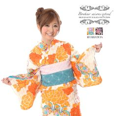 Ladies yukata Bonheur Saison (Model: Aya Sasaki Mizuno)
