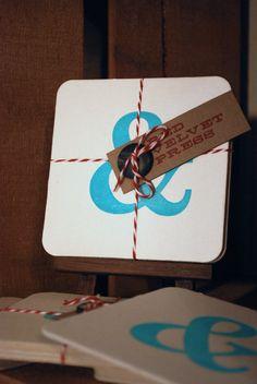 Character Letterpress Coasters
