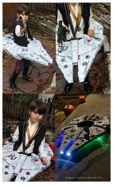 Han Solo & Millennium Falcon Halloween Costume~Image © Christine Alvarado, 2014. #StarWars #Cosplay #HanSolo