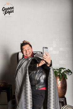 Head Roaster Willy sets the selfie standard at our Media Launch event. Queen of Pops concept store -  Shop 4, 680 Sandgate Road, Clayfield QLD 4011 AUSTRALIA. Photo by Essence Images.