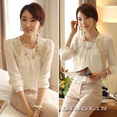 Дешевое Мода корейский рубашка блузка женщины с длинным рукавом Вышитые шифон Blusas Свободный Топы белые одежды SML Бесплатная доставка 0777, Купить Качество Блузки и рубашки непосредственно из китайских фирмах-поставщиках:             & бык;   100 % новый     & бык;    Вес : 147-168  г ( приблизительно)    & бык;   Цвет : Белый    & бык;