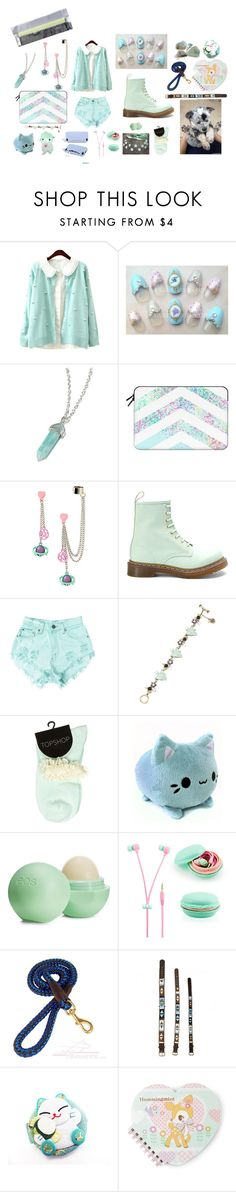 """Minty ~"" by iznek1234 ❤ liked on Polyvore featuring Casetify, Dr. Martens, Levi's, Betsey Johnson, Eos and ASPIGA"