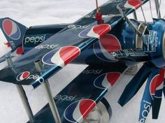 Upcycled Pepsi Can Airplane!