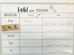 Use Scrabble tiles to practice sight words and math.