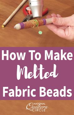 Heather Thomas demonstrates how quick and easy it is to make melted fiber beads to add excitment to your quilt. Learn how to identify meltable fabrics and how to properly test them to see how the fabric melts. Find out how to make beads using the melted fabric as well as what materials you will need. Use these tips to add beautiful embellishment to your quilts.