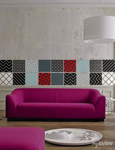 Easy DIY Way to Create Your Modern Patchwork Style #stickers #myloview