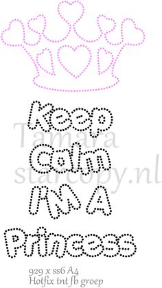 Keep Calm I'm a princess String Art Templates, String Art Patterns, Beading Patterns, Embroidery Patterns, Rhinestone Crafts, Free Adult Coloring, Nail String Art, Embroidery Cards, Baby Clip Art