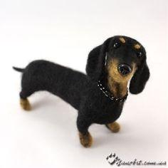 Dachshund Needle Felted Dog