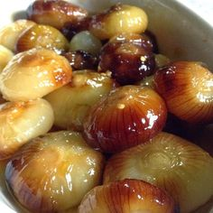 Agro-Dolce [Sweet and Sour] Onions.  Serve with fish or slice and serve with cream cheese as a jam.