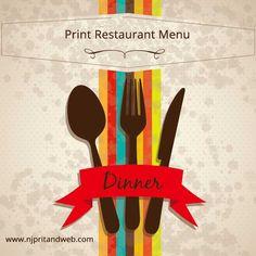 Print Restaurant Menu - Save time and money, Order Online! Free delivery. http://www.njprintandweb.com/product/print-restaurant-menu/