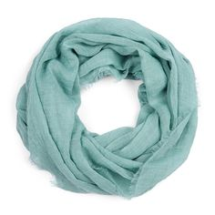 love the soft, light mint infinity scarf