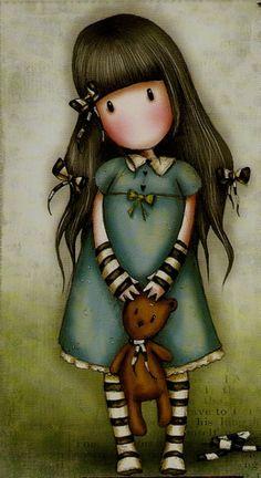 Risultati immagini per abecedario gorjuss png Art And Illustration, Illustration Mignonne, Illustrations, Art Mignon, Art Carte, Baby Kind, Cute Images, Cute Drawings, Cute Art