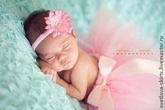 """юбочка из фатина """"Ангелочек"""" - бледно-розовый,юбочка из фатина,для новорожденной"""