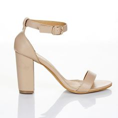 WOMENS LADIES BLOCK HIGH HEEL ANKLE STRAP PEEP TOE STRAPPY SANDALS SHOES SIZE 3 4 5 6 7 8: Amazon.co.uk: Shoes & Bags