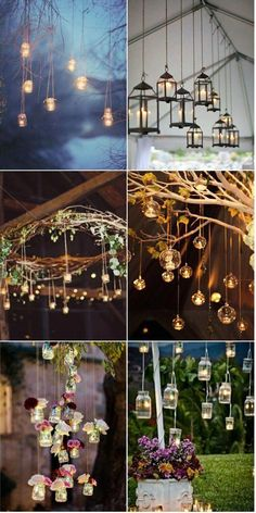 Top 14 Must See Rustic Wedding Ideas for rustic hanging wedding decorations with candle,barn weddings, rustic country wedding ideas, wedding reception decorations, Wedding Themes, Diy Wedding, Wedding Reception, Wedding Flowers, Dream Wedding, Trendy Wedding, Wedding Rustic, Wedding Backyard, Wedding Vintage