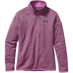 Patagonia Women's Better Sweater 1/4 Zip (145 NZD) ❤ liked on Polyvore featuring tops, sweaters, mock purple, quarter zip pullover, purple pullover sweater, quarter zip sweater, 1/4 zip sweater and pullover sweater