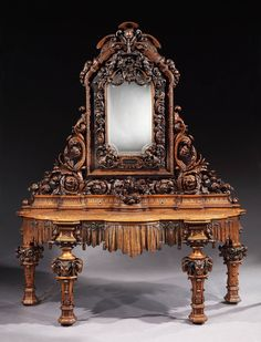 Truly Remarkable Italian Carved Sideboard, 1878   From a unique collection of antique and modern sideboards at https://www.1stdibs.com/furniture/storage-case-pieces/sideboards/