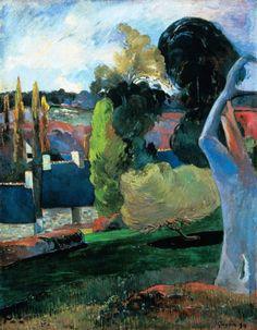 Titre de l'image : Paul Gauguin - ferme en Bretagne
