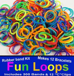 Rubber Band Looms Refill Rainbow