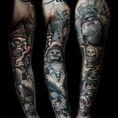 Aztec Warrior Sleeve