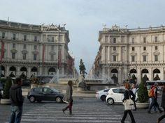 Het plein voor de Thermen van Diocletianus ~ dag 4