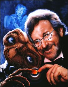 SHANNON painted this piece for the Spielberg family in honor of the premier of E.T. in L.A. It was presented to Steven Spielberg.