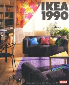 IKEA Catalogs from the past to the present, in fact, reveals the direction of decoration trends. 80s Interior Design, 90s Design, Home Interior, Interior Architecture, Interior Decorating, Design Interiors, Ikea Design, Furniture Market, Bedroom Furniture