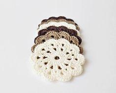 Crochet coasters drink coasters crochet flowers table