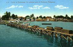 Zamboanga docks Philippine Art, Filipiniana, Scene, Stage