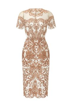 Metallic Jaipur Sheath by Marchesa Notte for $125 | Rent The Runway