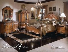 Items similar to AICO by Michael Amini Eden series king size bedroom set on Etsy King Size Bedroom Furniture, King Size Bedroom Sets, Luxury Bedroom Furniture, Queen Bedroom, Luxury Bedding, Furniture Design, Rustic Bedroom Design, Interior Design Living Room, Bedroom Designs